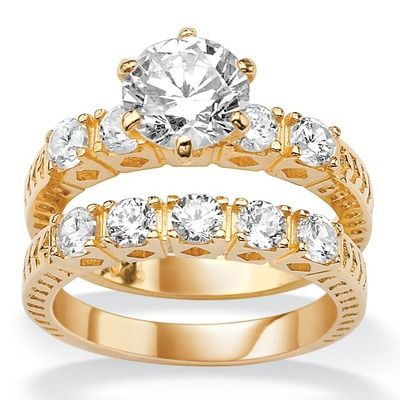 gold wedding ring sets - Gold Wedding Ring Sets