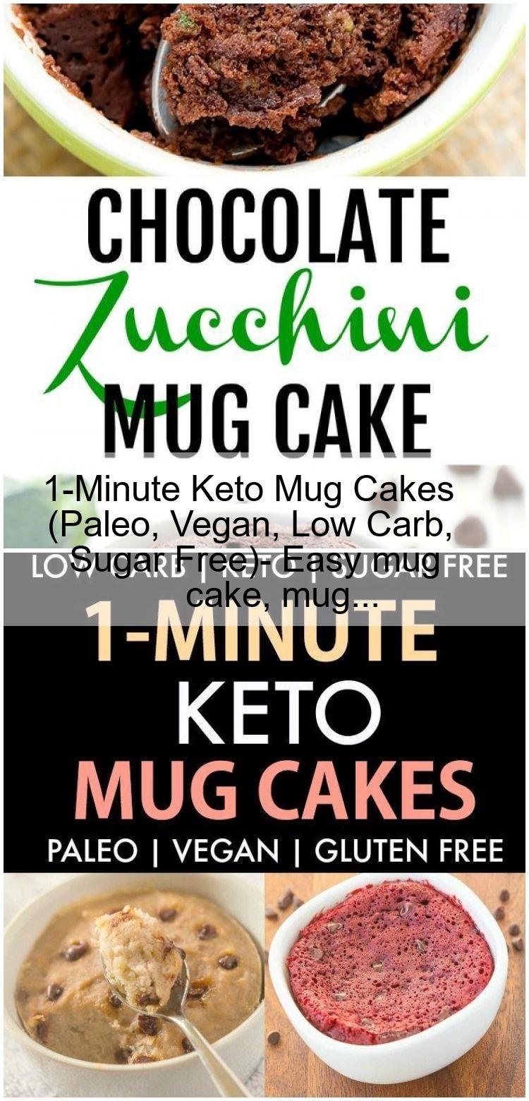 1-Minute Keto Mug Cakes (Paleo, Vegan, Low Carb, Sugar Free)- Easy mug cake, mug... 1-Minute Keto M