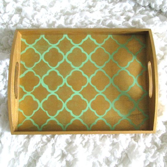 Decorative Ottoman Tray Gold Quatrefoil Decorative Serving Tray Wartistryforyou