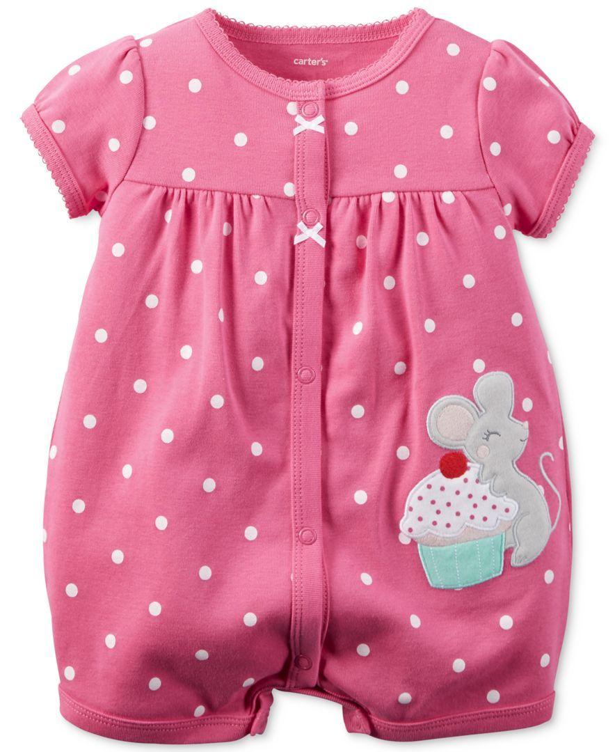 Girls Cupcake Romper Baby & Toddler Clothing Girls' Clothing (newborn-5t)