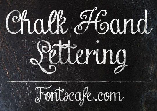 Chalk Hand Lettering Font Fonts Cafe Hand Lettering Fonts Lettering Fonts Chalkboard Fonts