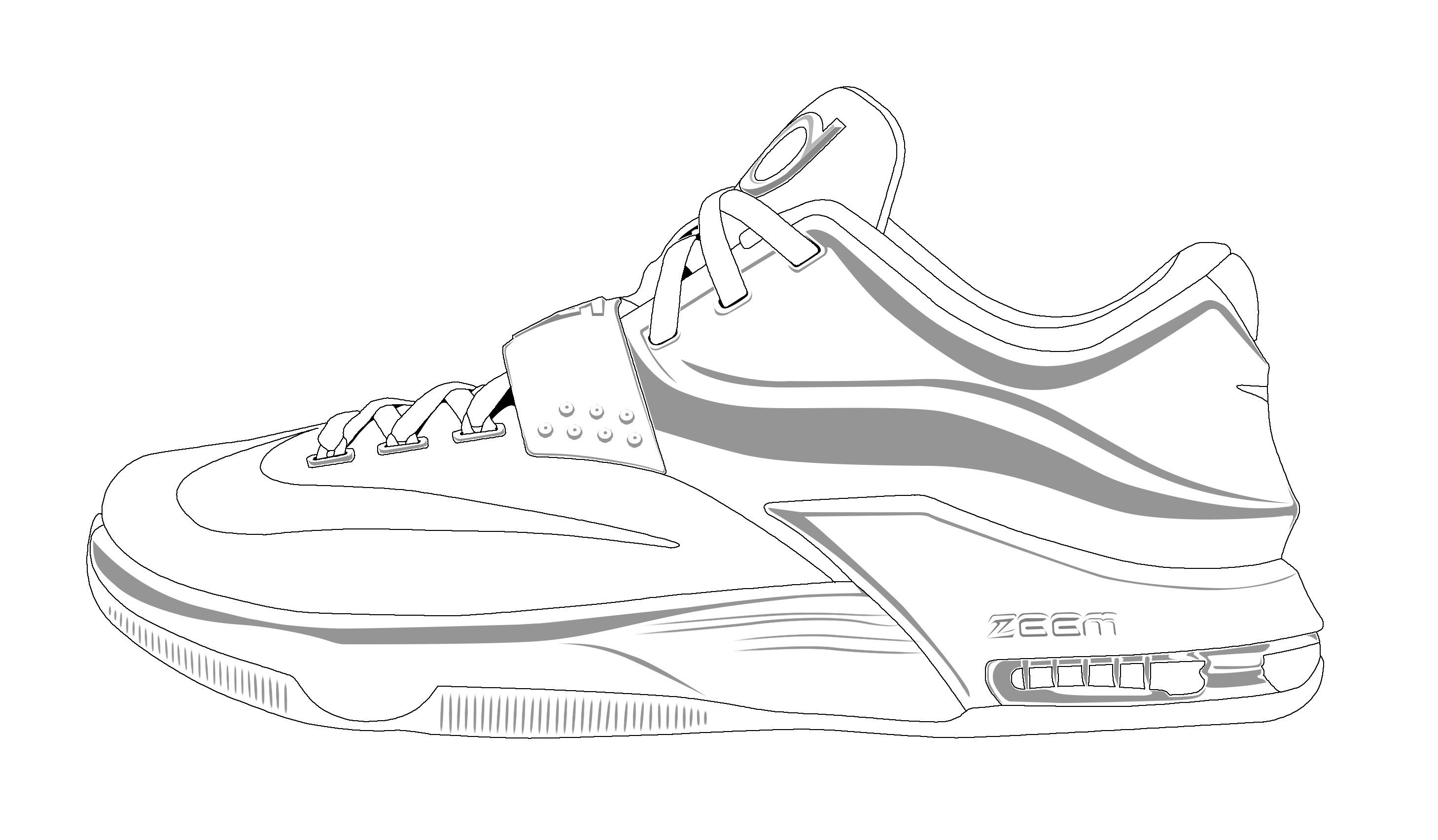 Exclusive Printable Tennis Shoe Coloring Pages Jordan Shoes Template Shoe Template Sneakers Jordan Shoes
