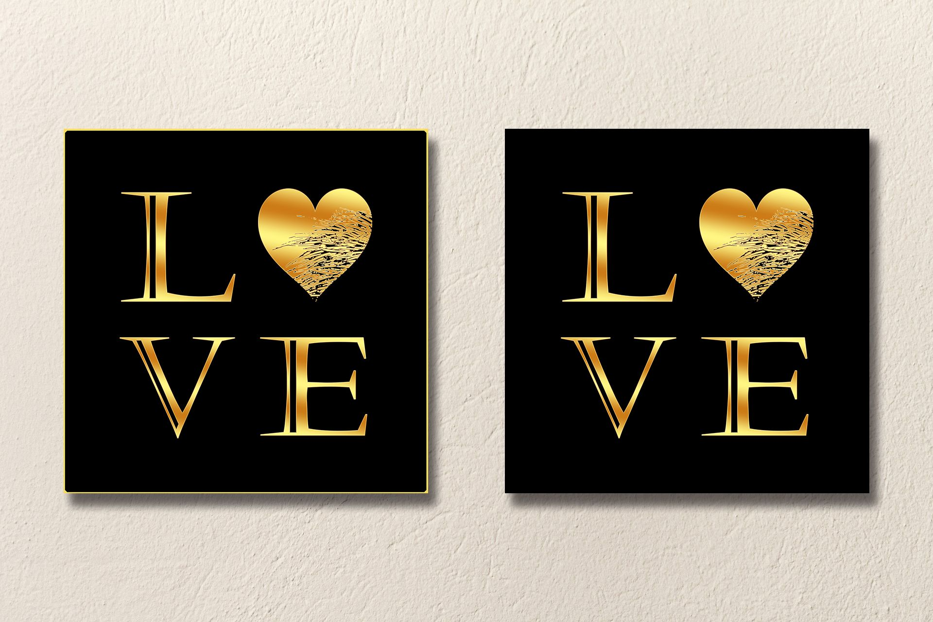 Love print heart print gold print artistic print printable art