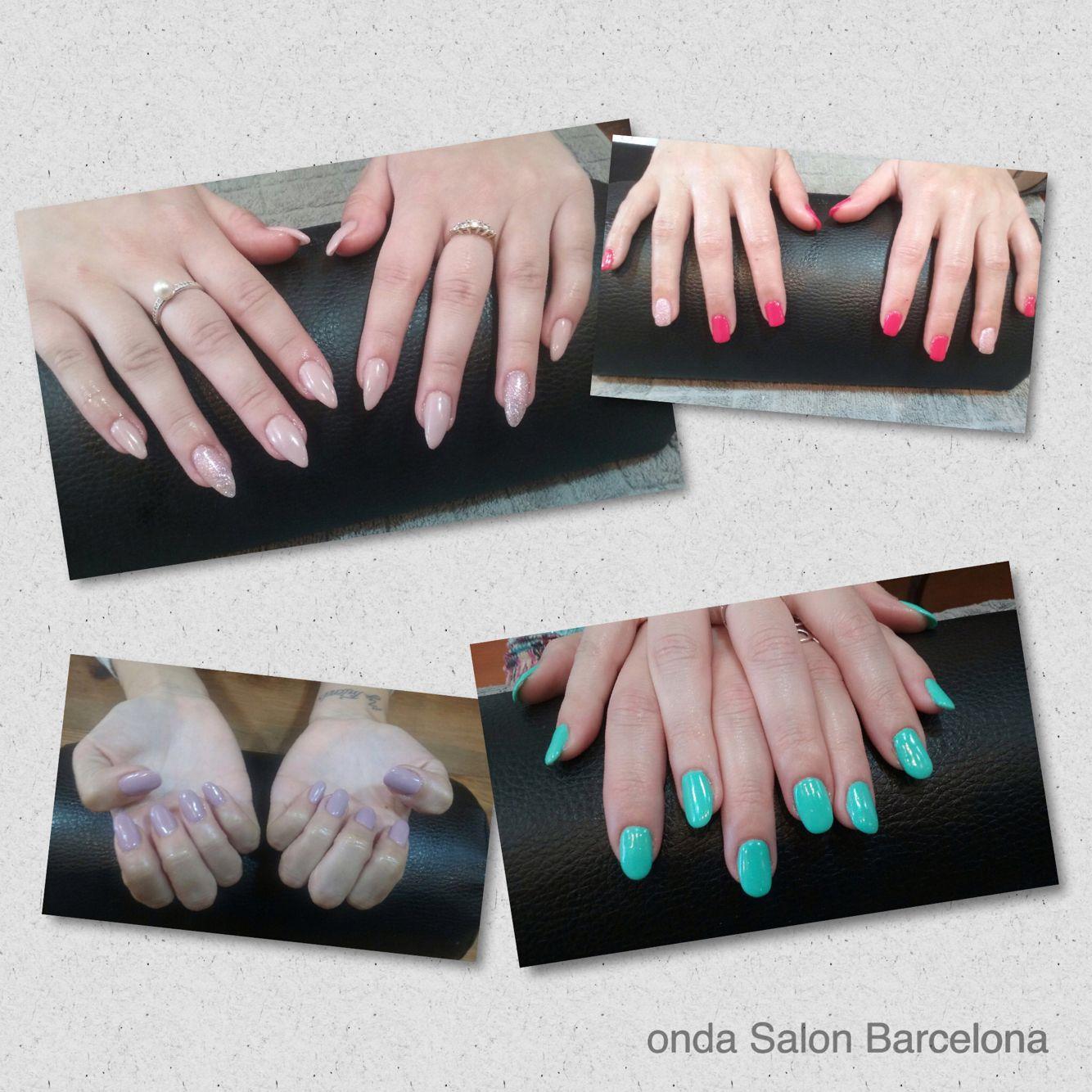 Uñas de gel - reconstrucción de uñas - gel nails - nail reconstruction by Onda Beauty Team. #Ondasalon #uñasdegel #gelnails #esteticaBarcelona #Barcelona #Barceloneta