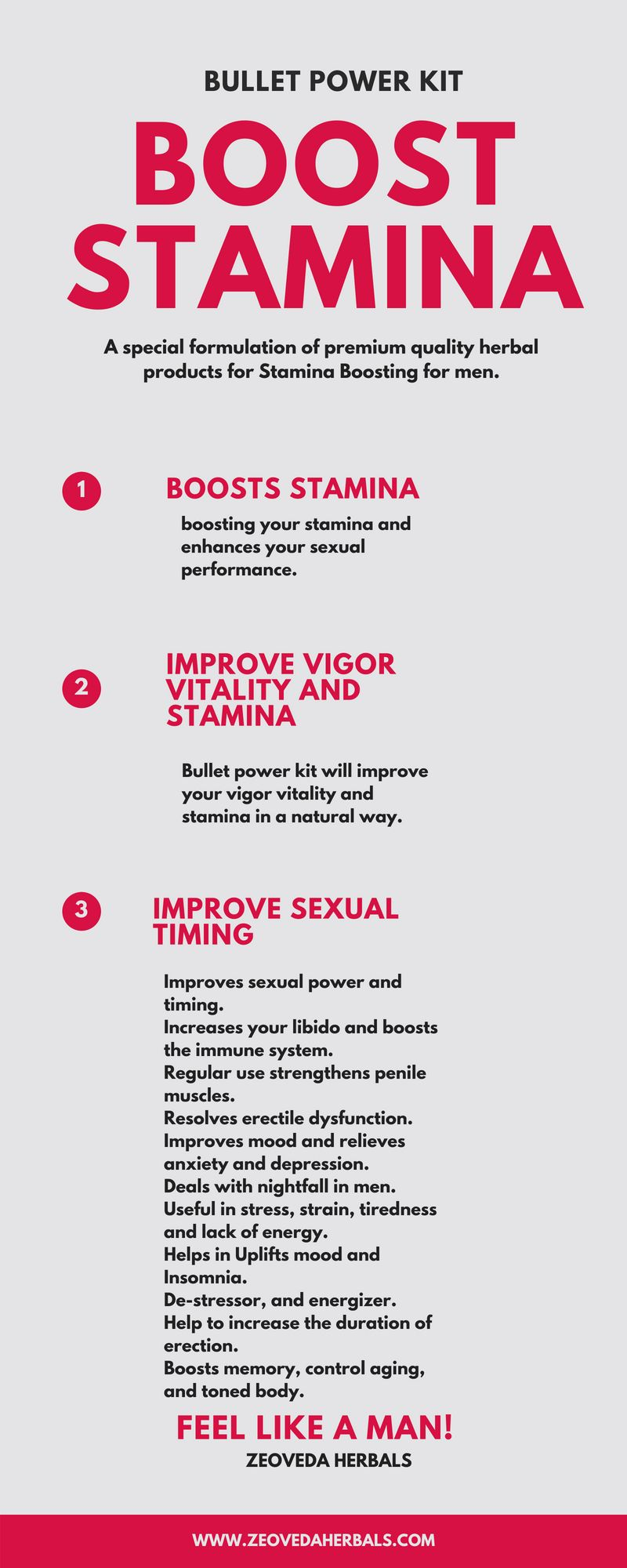 Bullet Power Kit For Boosting Stamina And Timing Also Improve