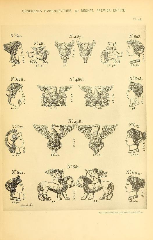 More 1900 dessins d 39 ornements d 39 architecture de for Ouvrage d architecture