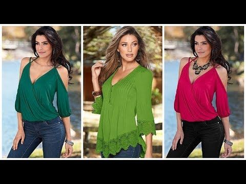 38e041376 BLUSAS 2018 moda en blusas modernas para mujer 2017 - 2018 - YouTube ...