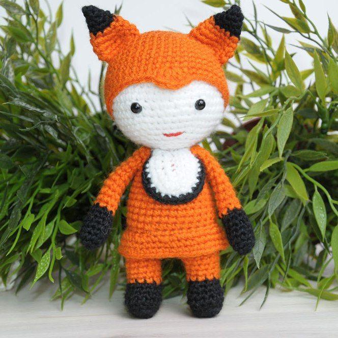 Amigurumi muñeca en traje de zorro - patrón de ganchillo libre ...