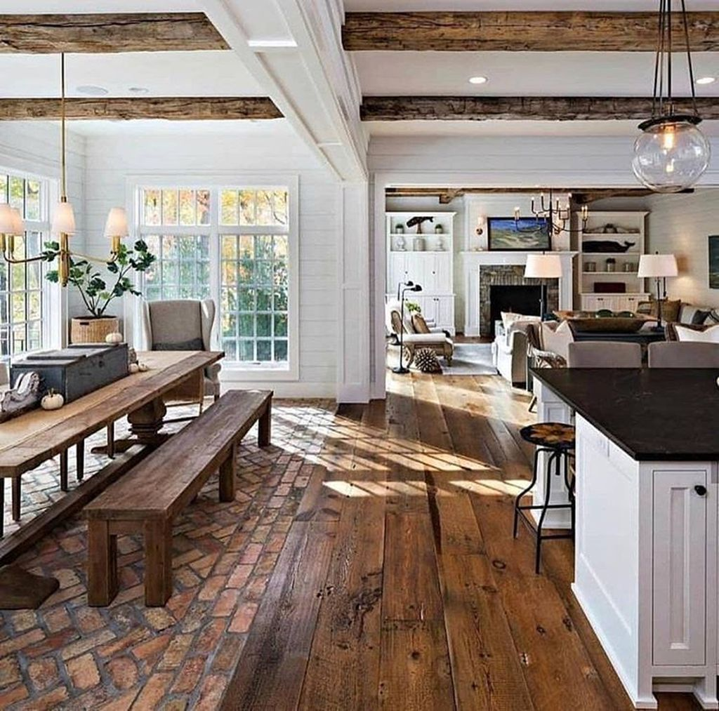 33 Stunning Farmhouse Interior Design Ideas To Realize Your Dreams Rustic Country Kitchens Farmhouse Interior Design Sweet Home