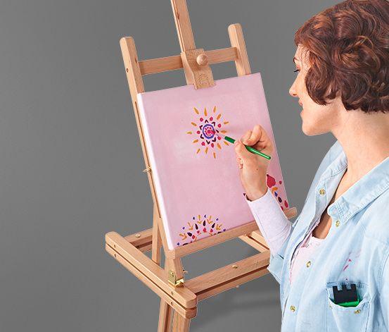Malířský stojan   999 Kč         Úhel malování lze nastavit podle potřeby  Malířský stojan lze roztáhnout do výšky od cca 150 do 200 cm