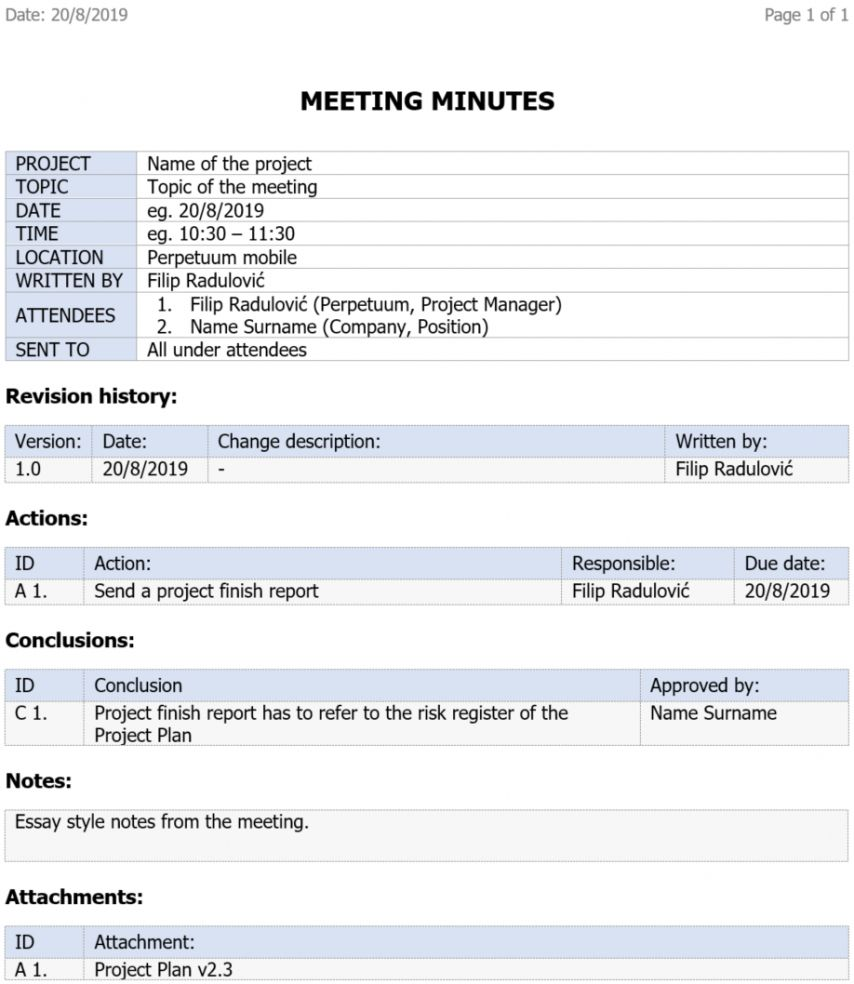 Editable 5 Free Project Meeting Minutes Template Pta Meeting Agenda Template Meeting Agenda Template Agenda Template Meeting Minutes Template