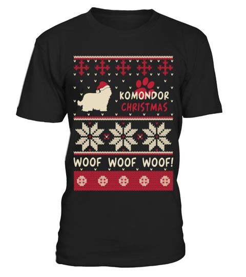 # Komondor Christmas woof woof woof funny t-shirt .  HOW TO ORDER:1. Select the style and color you want:2. Click Reserve it now3. Select size and quantity4. Enter shipping and billing information5. Done! Simple as that!TIPS: Buy 2 or more to save shipping cost!This is printable if you purchase only one piece. so dont worry, you will get yours.Guaranteed safe and secure checkout via:Paypal   VISA   MASTERCARD