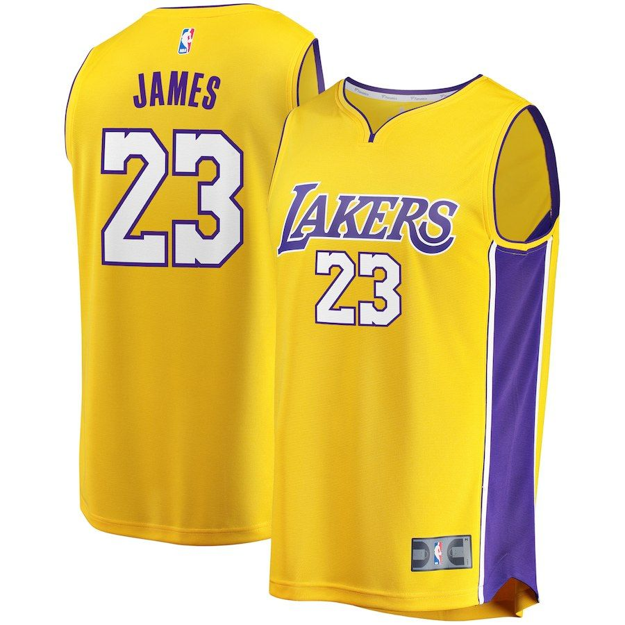Youth Los Angeles Lakers LeBron James Fanatics Branded Gold 2017 18 Fast  Break Replica Jersey – Icon Edition ab4910479