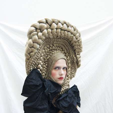 Architectural Hair Braids - Studio Marisol's Series for CuldeSac Crazy Hair Art Workshop is Wild (GALLERY)