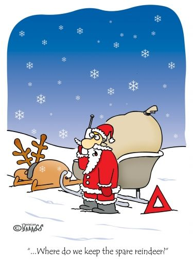 Santa Needs A Spare Reindeer Christmas Comic