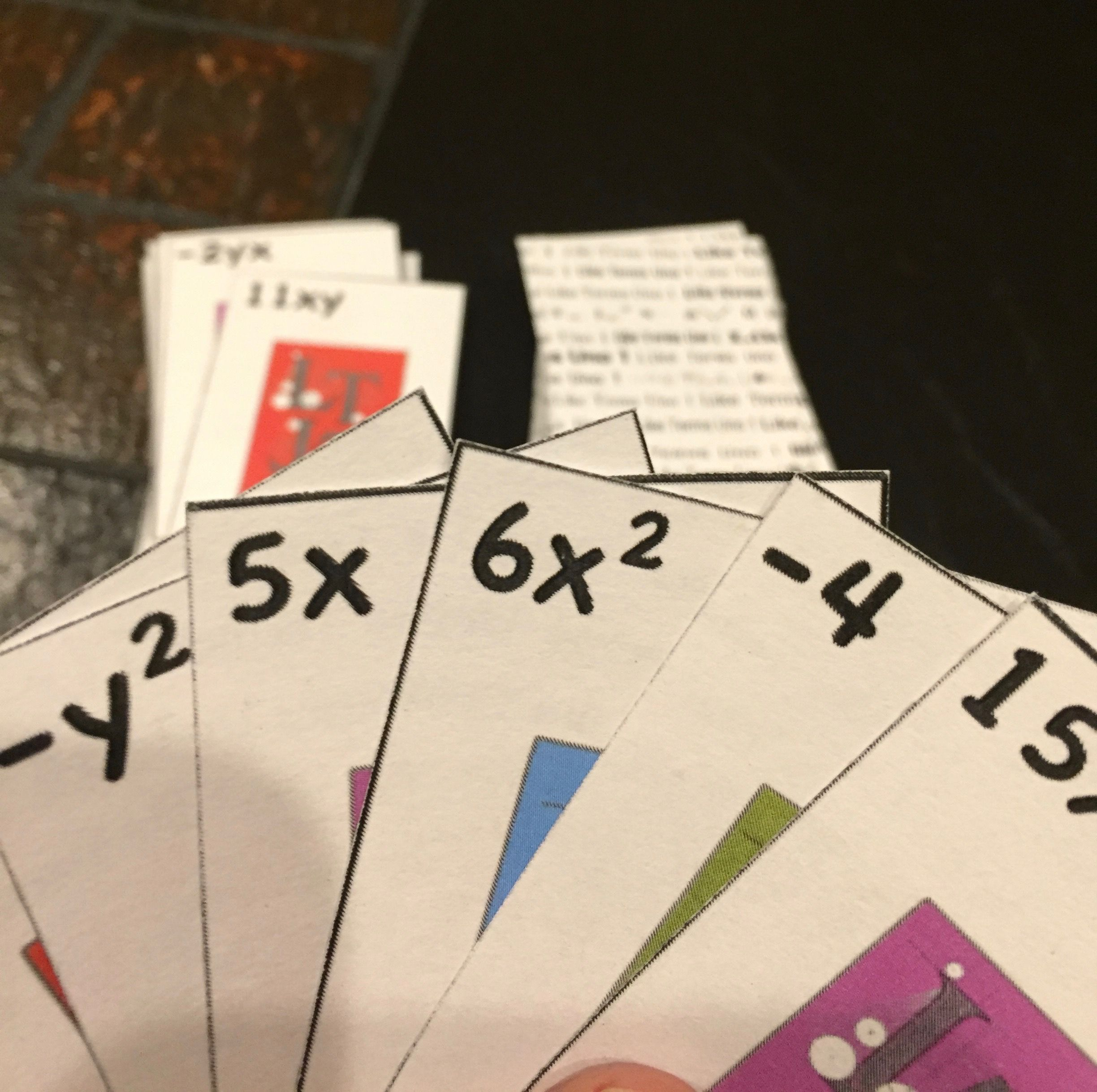 Like Terms Uno Is A Free From Front Porch Math This Game
