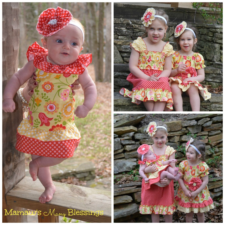 DAISY MAY  Sundress  Baby  Girl Dress  by MamawsManyBlessings, $30.00