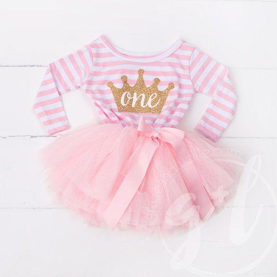 Ersten Geburtstag Outfit Kleid Langarm Mit Goldenen Buchstaben Und