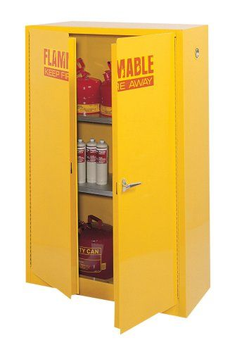Edsal Sc450f 43inch Wide By 18inch Deep By 65inch High 45gallontwoshelf Flammable Liquid Safety Cabinet Yellow Find Out Mo Storage Cabinets Metal Storage Cabinets Storage