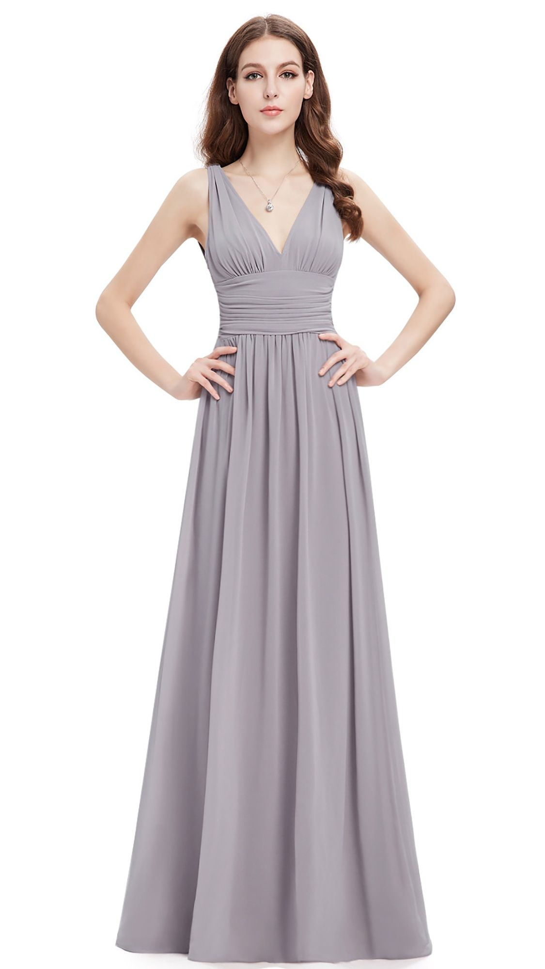 aa7cd1bdfbb6 Ever-Pretty Women's Elegant Long V-Neck Sleeveless Semi-Formal Evening Prom  Party Bridesmaid Maxi Dresses for Women 09016 (Floral 4 US)#Sleeveless, # Neck, ...