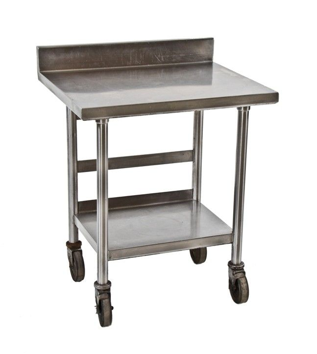 vintage industrial two tier stainless steel commercial kitchen prep table from an old chicago public. beautiful ideas. Home Design Ideas
