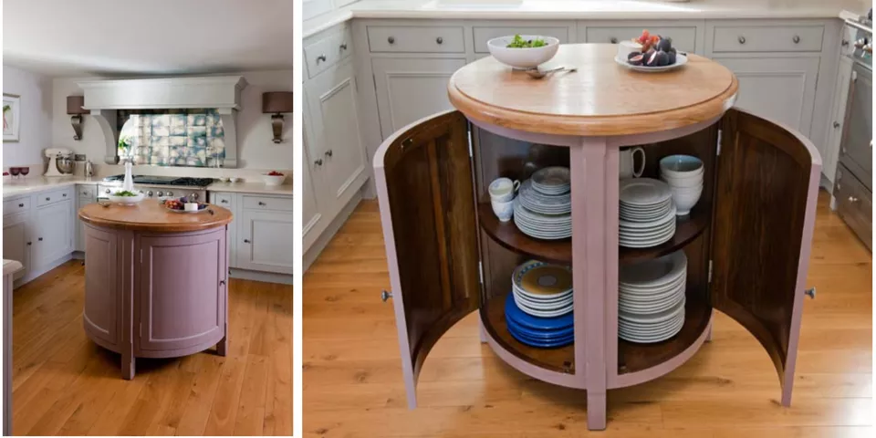 Here Are Some Odd Kitchen Islands That Are Rounded Why Round Kitchen Island Mobile Kitchen Island Kitchen Island With Sink