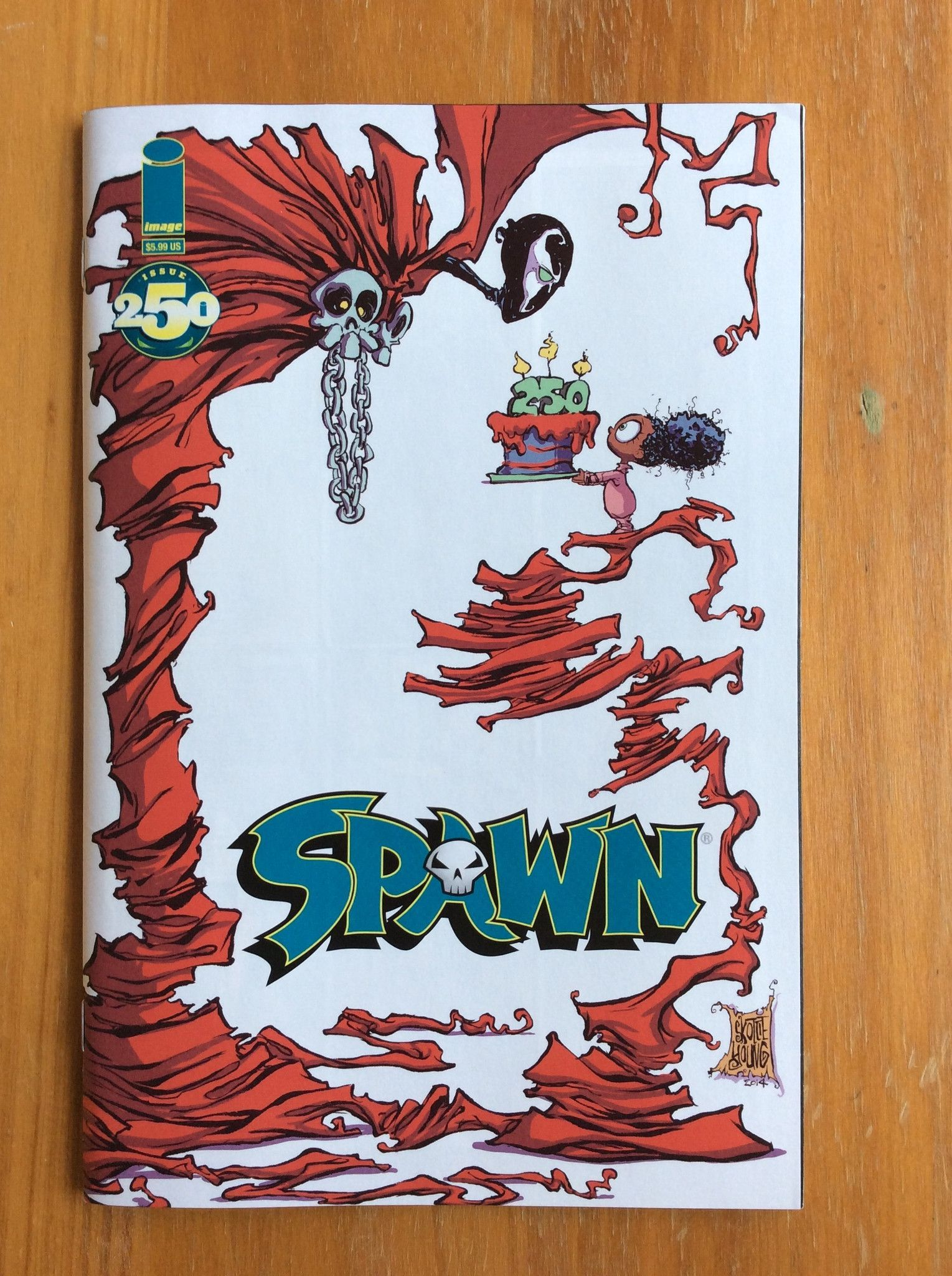 Spawn #250 Skottie Young Variant Cover Art Comics