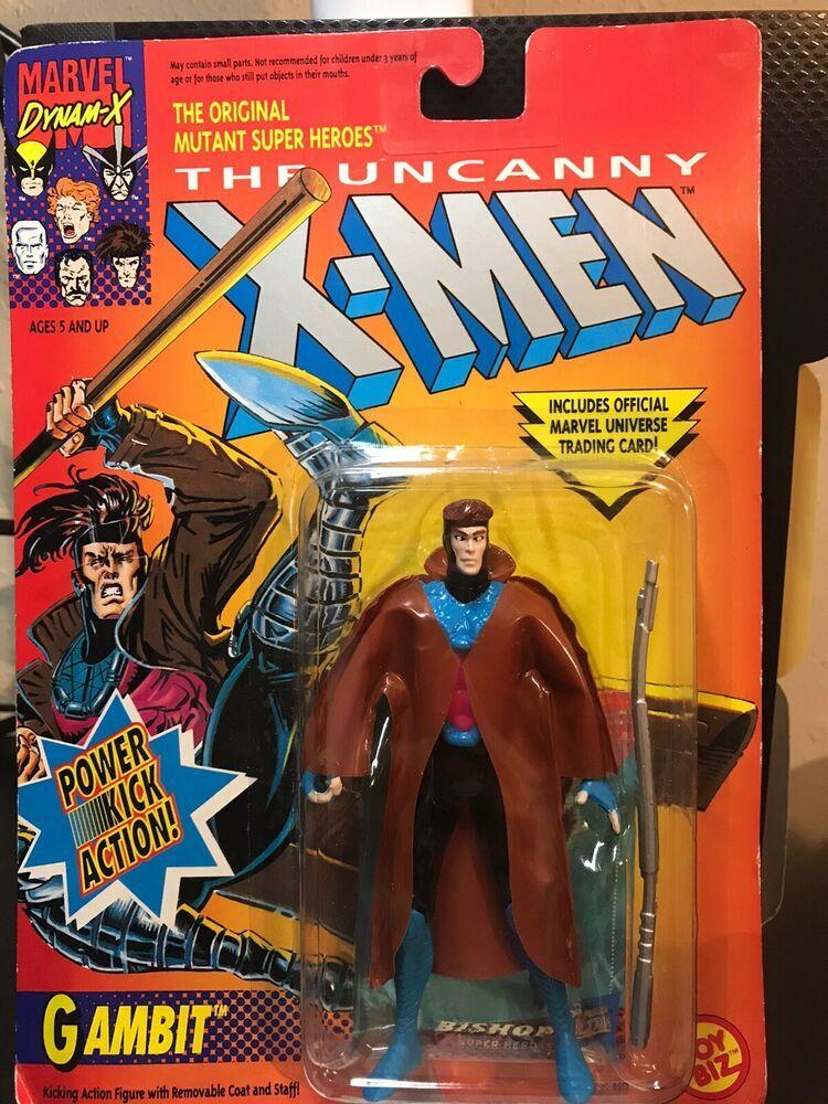 The Uncanny X Men GAMBIT Power Kick Action Figure /'93 Marvel Comics Toy Biz NEW