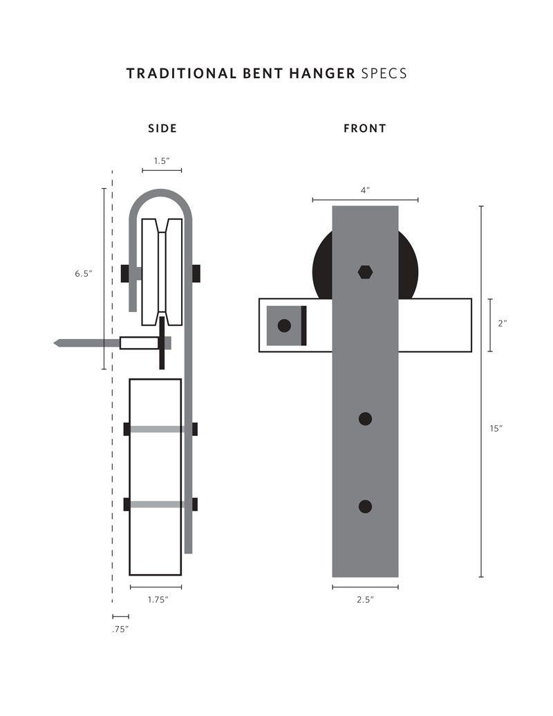 Barn Door Hardware Specs Hingeless Con Imagenes Puertas De