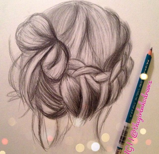 Drawing Of Hair By Kay Richards Follow Her On Instagram HairstylesCute