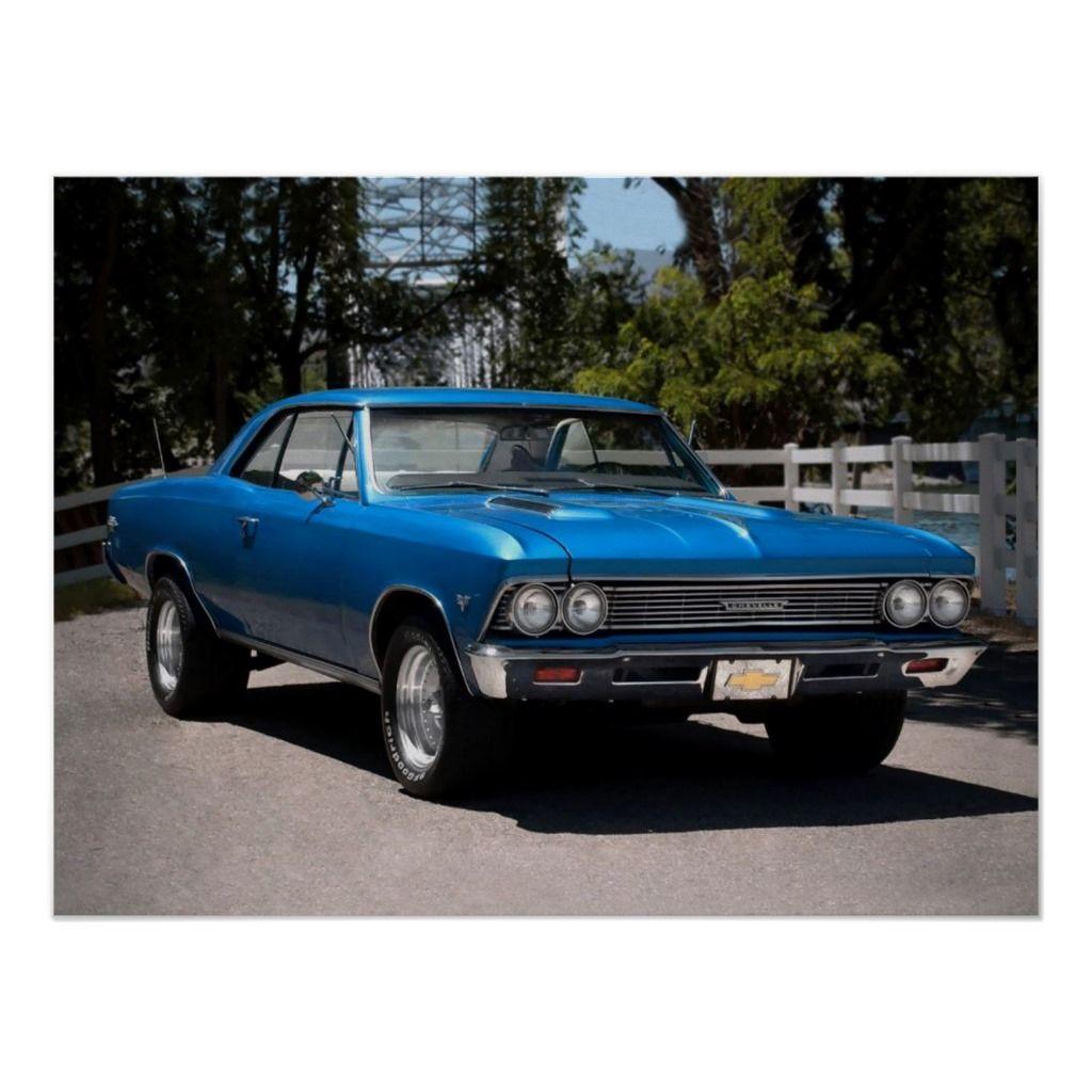 1966 Chevy Chevelle Malibu Chevrolet Muscle Car Poster | Zazzle.com
