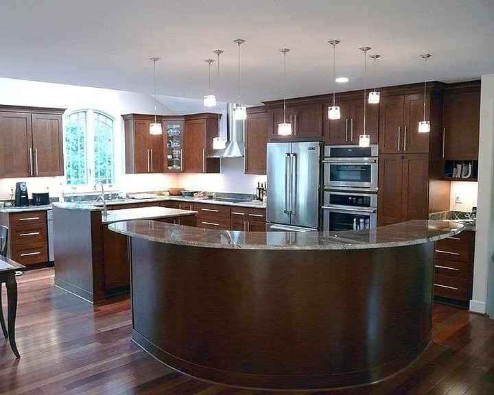 Kitchen Island Design Photos Island design, Curved kitchen island