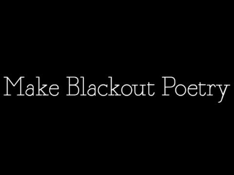 artsy video to introduce the idea of blackout poetry poetry blackout poetry poetry lessons. Black Bedroom Furniture Sets. Home Design Ideas