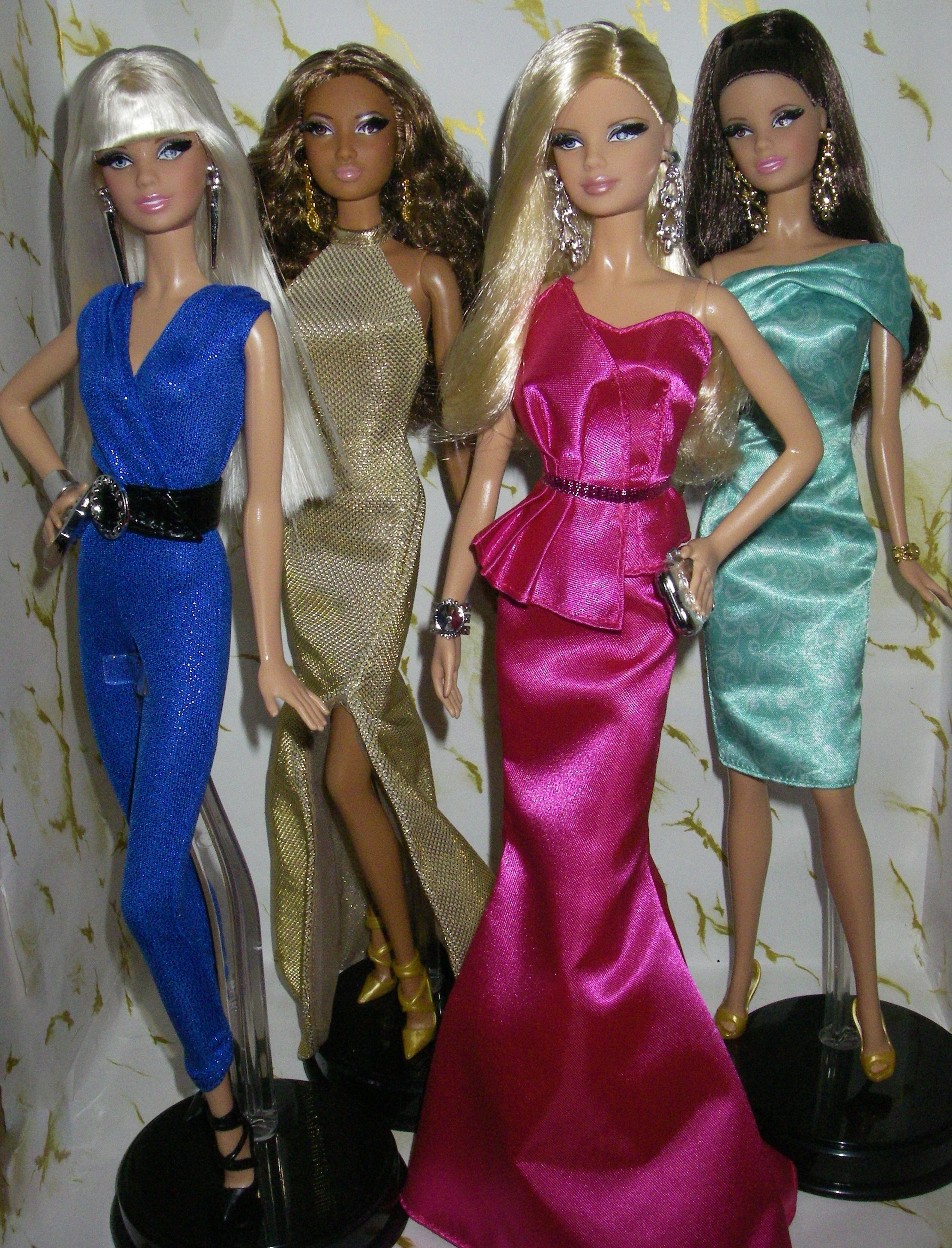 THE BARBIE LOOK  RED CARPET PINK GOWN OUTFIT $ ACCESSORIES ONLY  NEW