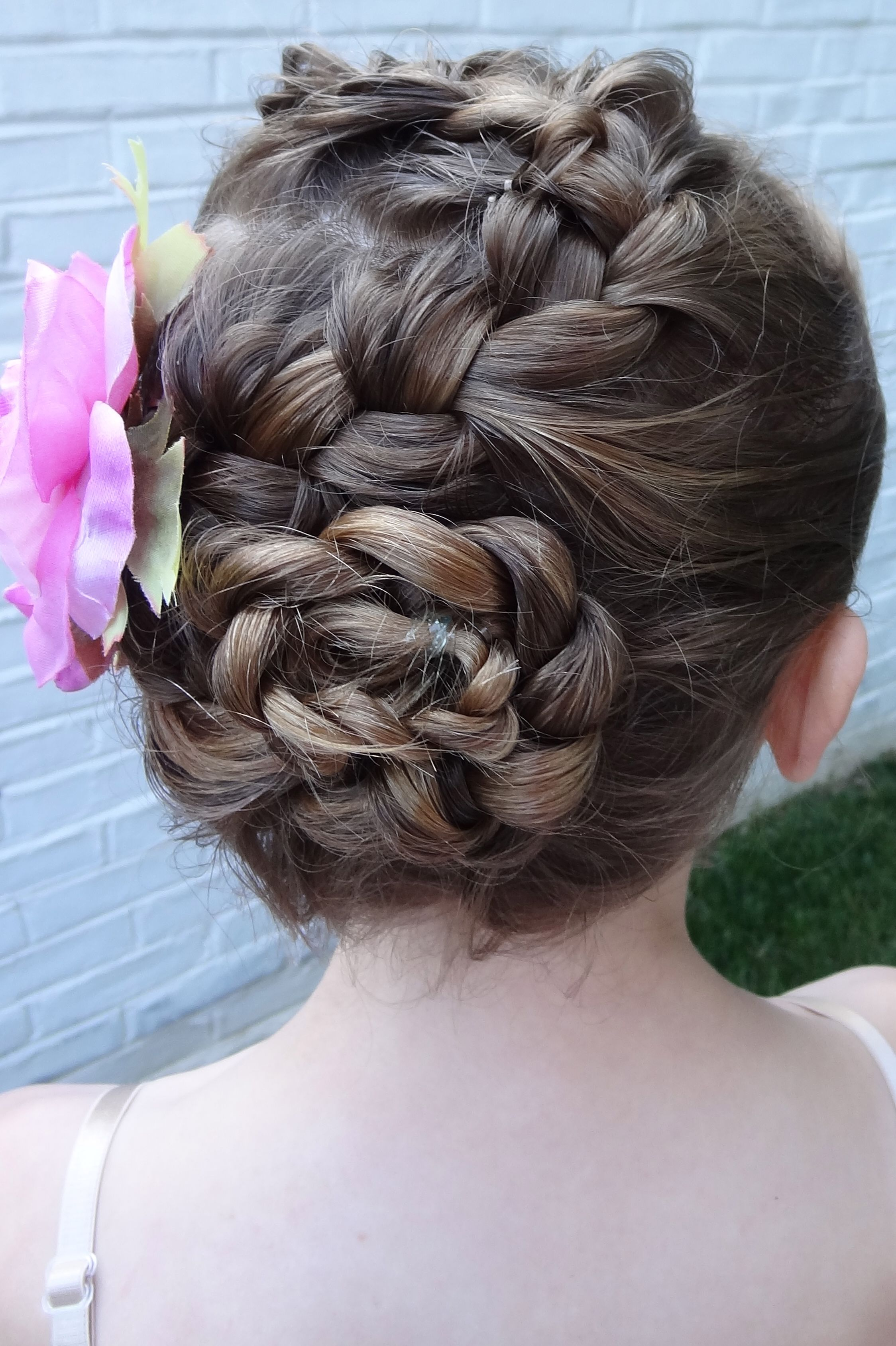 dance recital snake braid. | dance hair and buns | dance