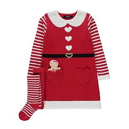 Christmas Mrs Santa 3 Piece Set Kids George At Asda Baby Christmas Outfit Childrens Clothes Christmas Outfit