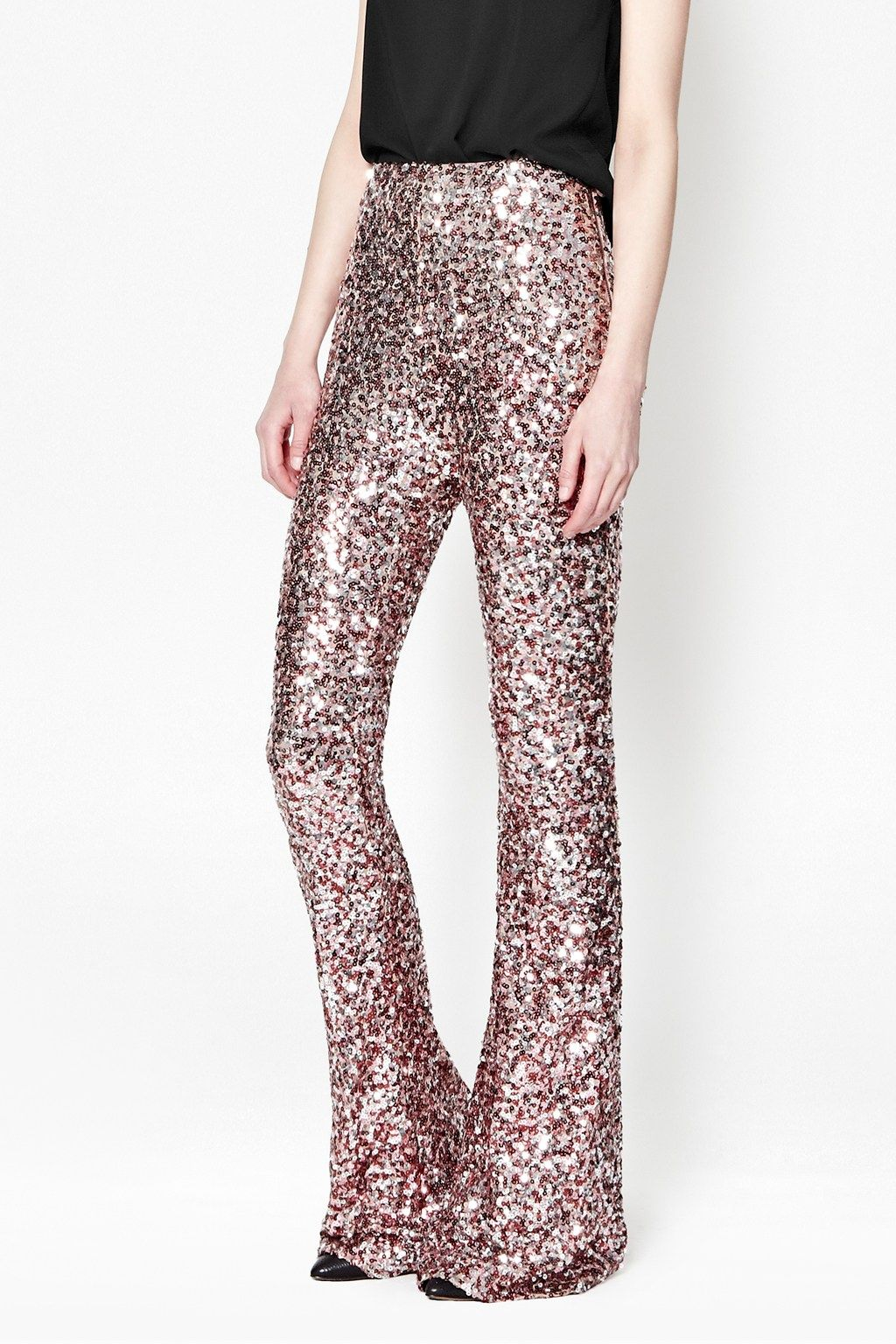 9b5f1dfbe3980b Lunar Sparkle Sequin Flares | Trousers & Leggings | French Connection Usa