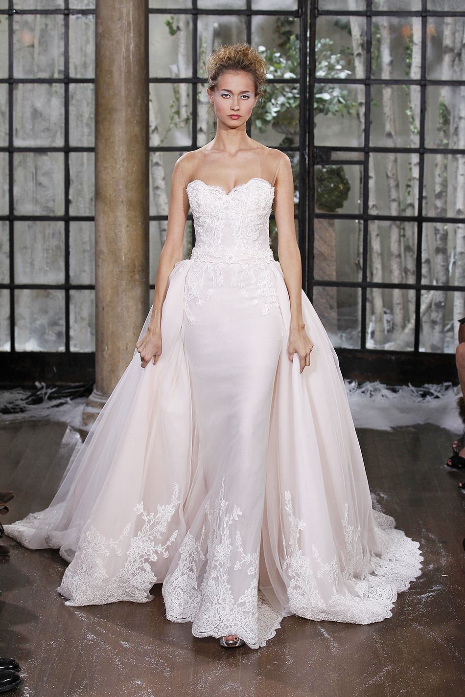 Pink Fit and Flare Wedding Dresses