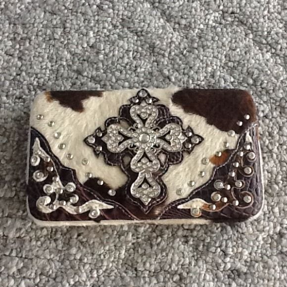 """Selling this """"New- Western Cow Print Wallet"""" in my Poshmark closet! My username is: yamagirl. #shopmycloset #poshmark #fashion #shopping #style #forsale #Montana West #Clutches & Wallets"""