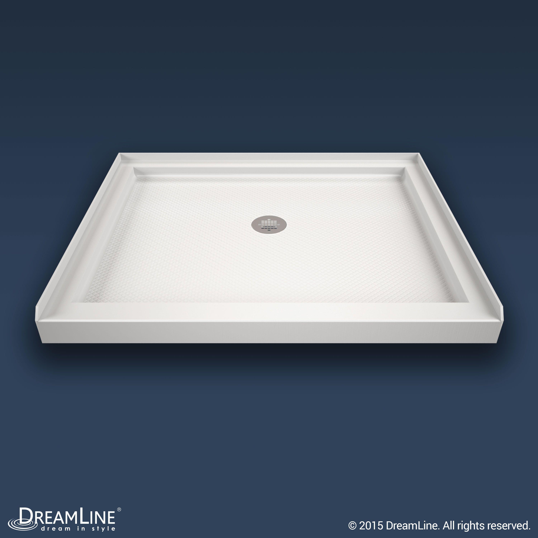 The DreamLine SlimLine double threshold shower floor may be used in ...