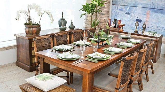 Jogo De Sala De Jantar Em Madeira ~  Google  Mesas  Pinterest  Mesa de jantar, Jantares e Sala de jantar