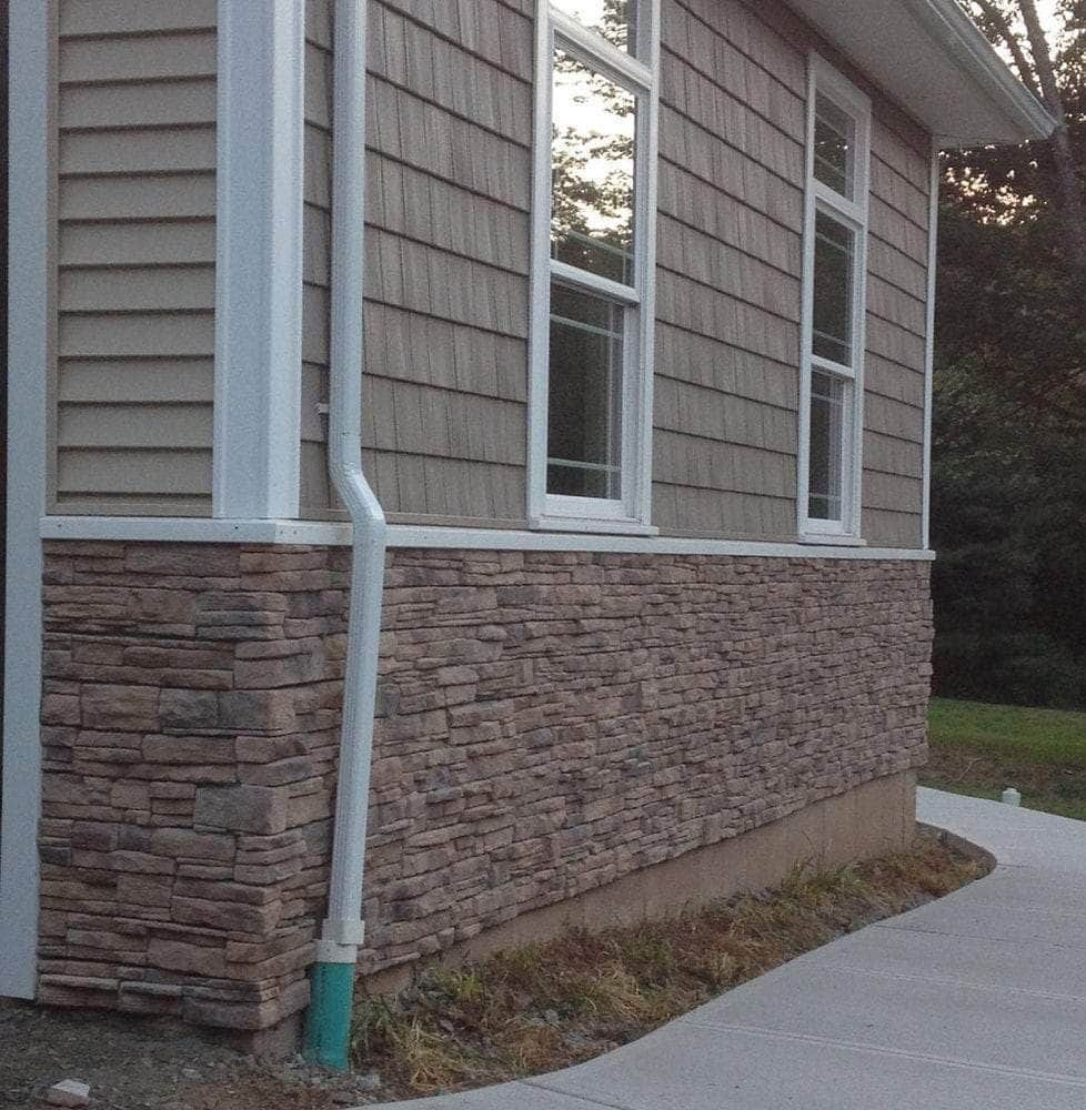 Square Stone Stacked Accent Wall: Alabama Ready Stack Stone / 9 Sq Ft Flats