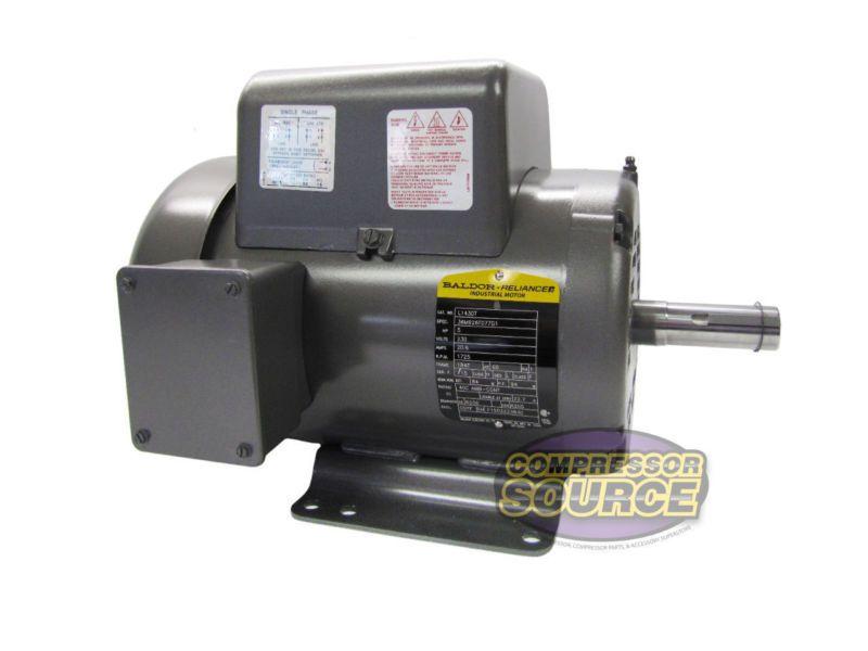 5 Hp Single Phase Baldor Electric Compressor Motor 184t Frame L1430t 230 Volt Electric Compressor Electricity Electric Motor