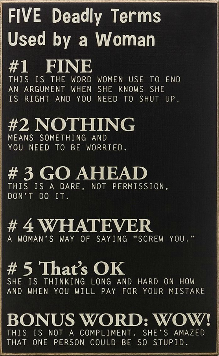 5 Deadly Terms Used By A Woman | The WHOot