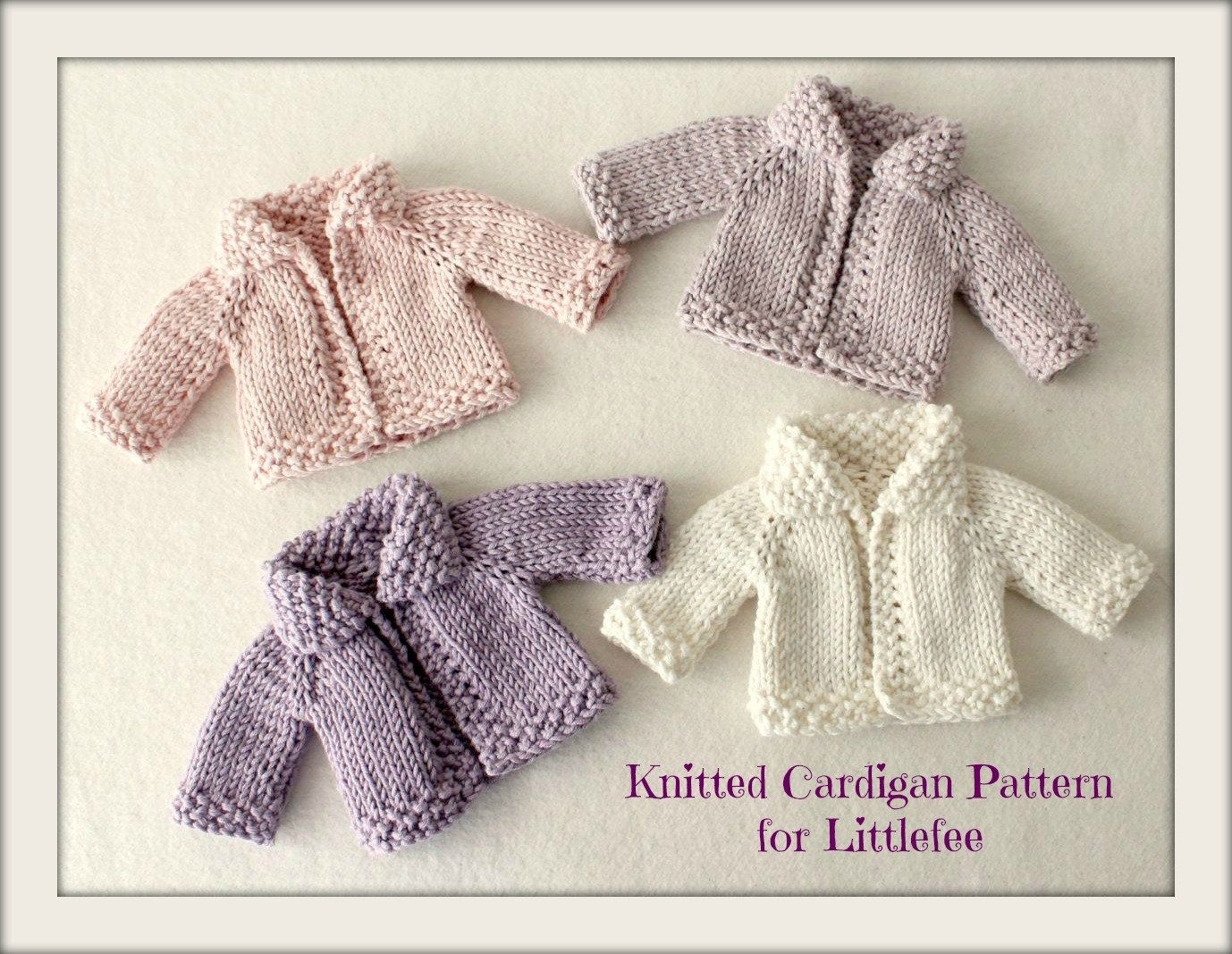Instant Download PDF Knitted Cardigan Pattern for Littlefee | Knit ...