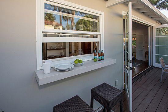 Pass through kitchen window to outside google search jenns living spaces pinterest for Pass through kitchen ideas