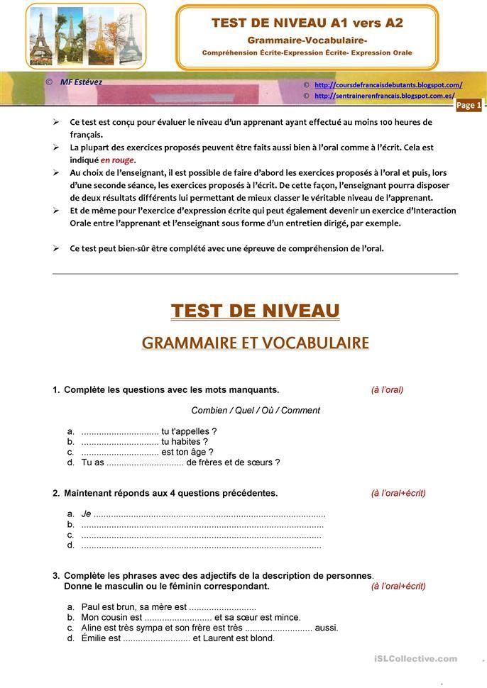 Compréhension De L Oral A2 Epingle Sur Francais