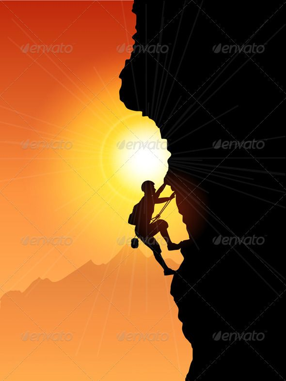 Rock climber | Silhouettes, Paintings and Painting letters
