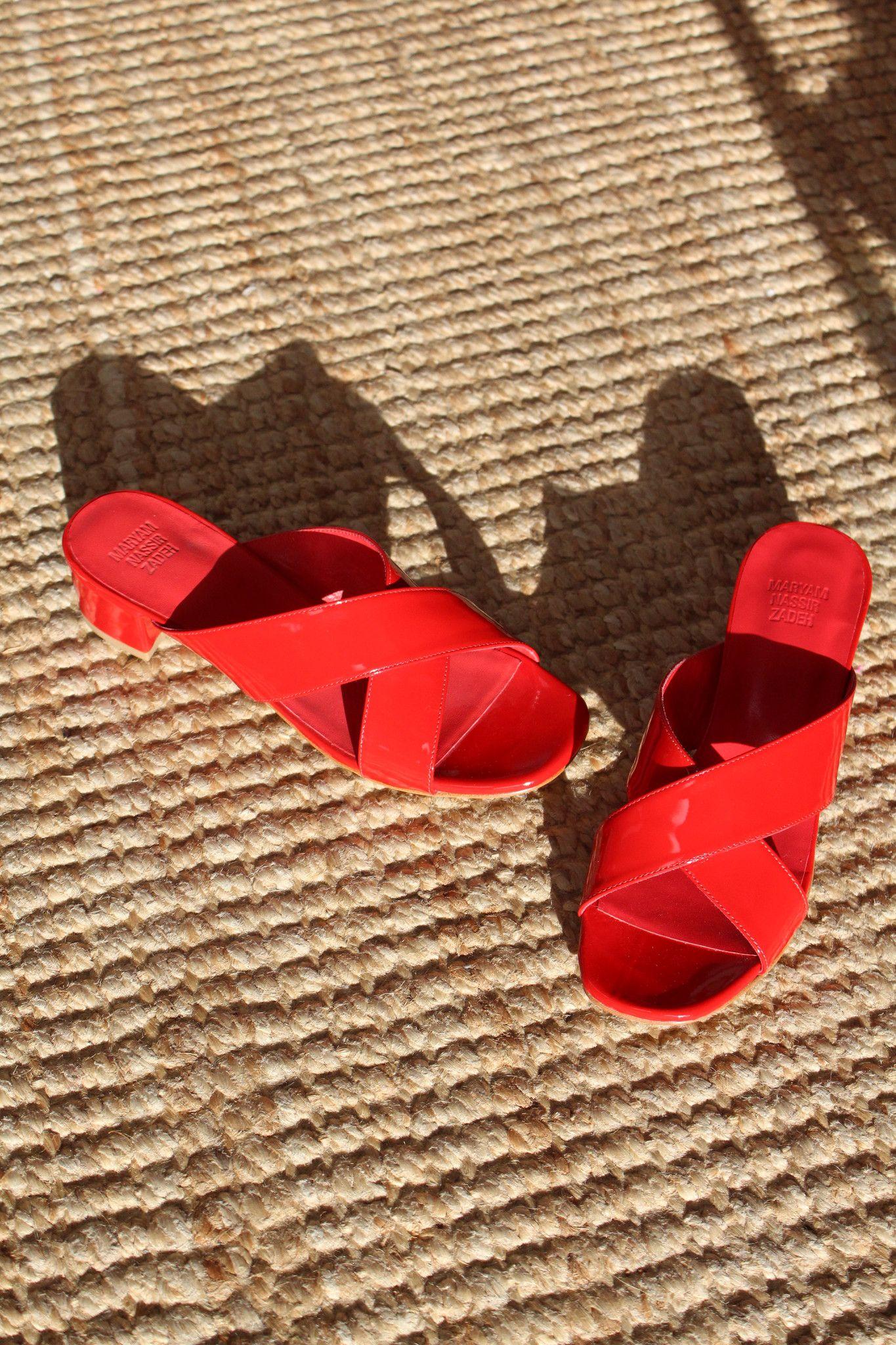 Maryam Rouge Nassir Zadeh MNZ Lauren Slide Rouge Maryam Patent Leather on Wedding 8c7190