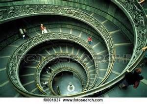 Vatican - spiral staircase of the Vatican Museum